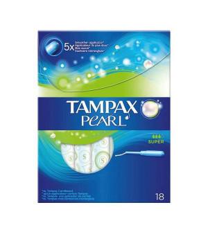 Tampax Pearl Super Ταμπόν Με Απλικατέρ Υψηλής Απορροφητικότητας 18 τμχ