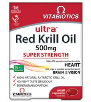 Vitabiotics Ultra Red Krill Oil 500mg Super Strength 30Caps