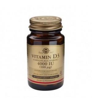Solgar Vitamin D3 4000Iu 100mg 60Tabs