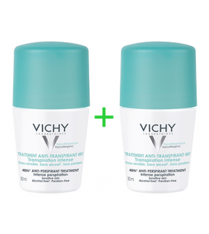 Vichy Traitement Anti-Transpirant 48H Transpiration Intense Roll-On For 1+1 2x50ml