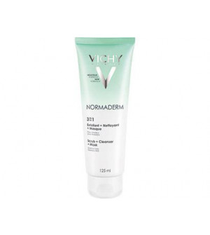 Vichy Normaderm 3 In 1 Απολέπιση + Καθαρισμός + Μάσκα Προσώπου 125ml