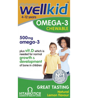 Vitabiotics Wellkid Omega 3 Chewable 60Chewable Caps