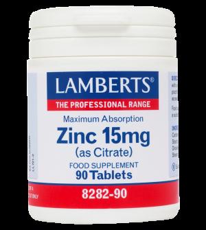 Lamberts Zinc Citrate 15Mg 90Tabs